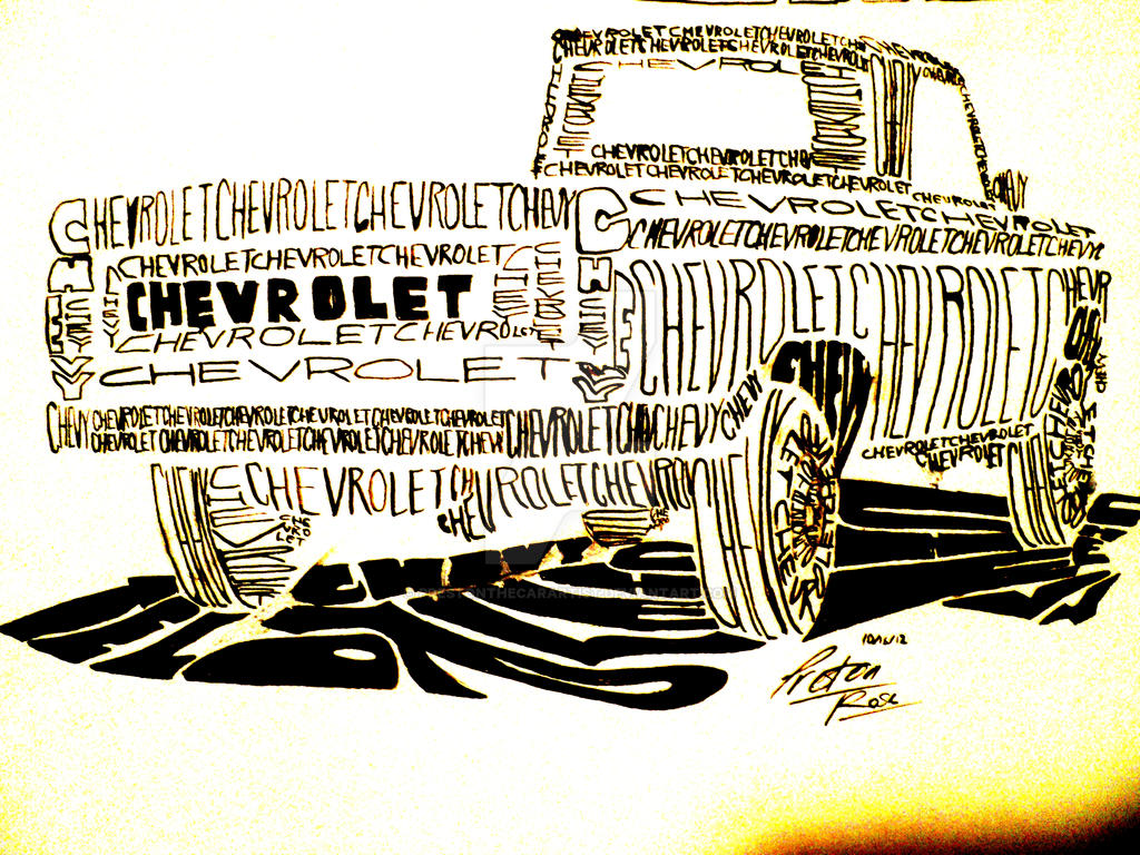 how to draw a chevy truck easy