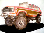 AMC Jeep Wagoneer drawing