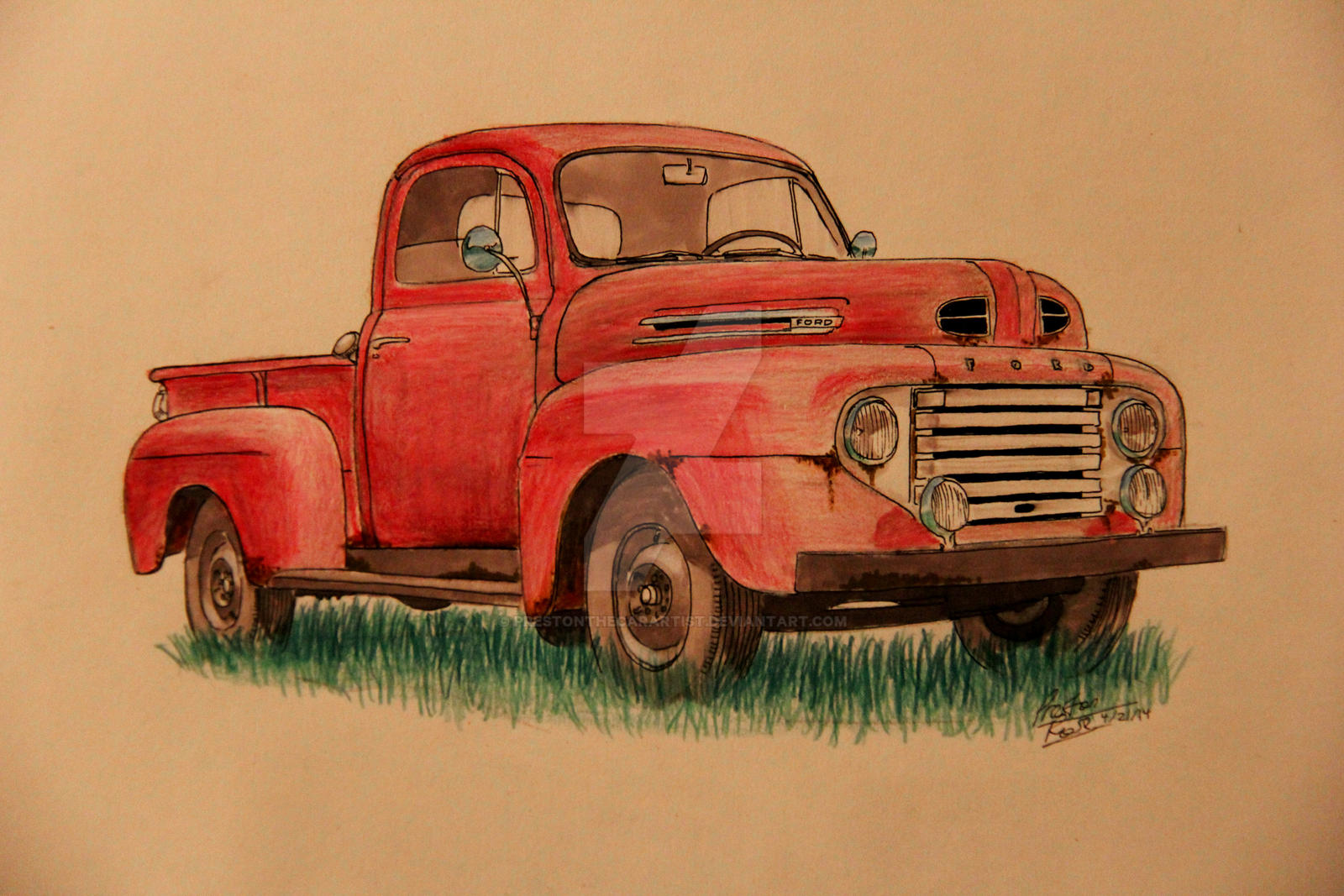 1949 ford truck drawing by prestonthecarartist on deviantart. Black Bedroom Furniture Sets. Home Design Ideas