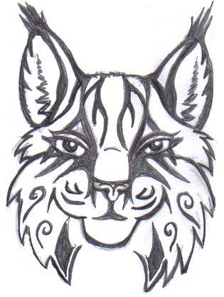 tribal lynx by sketchkat on deviantart. Black Bedroom Furniture Sets. Home Design Ideas