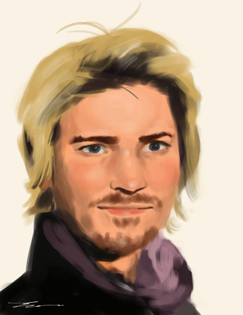 Portrait 8 - Troy Baker Study by lancevl