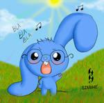 yo conejito azul 001