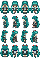 Miku RPG Maker XP style by Nakimo