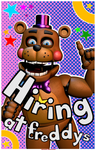 Now Hiring At Freddy's Poster