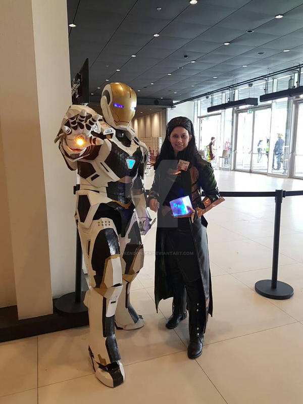 animecon 2016 loki and iron man (Ehv Props) by drakendonder