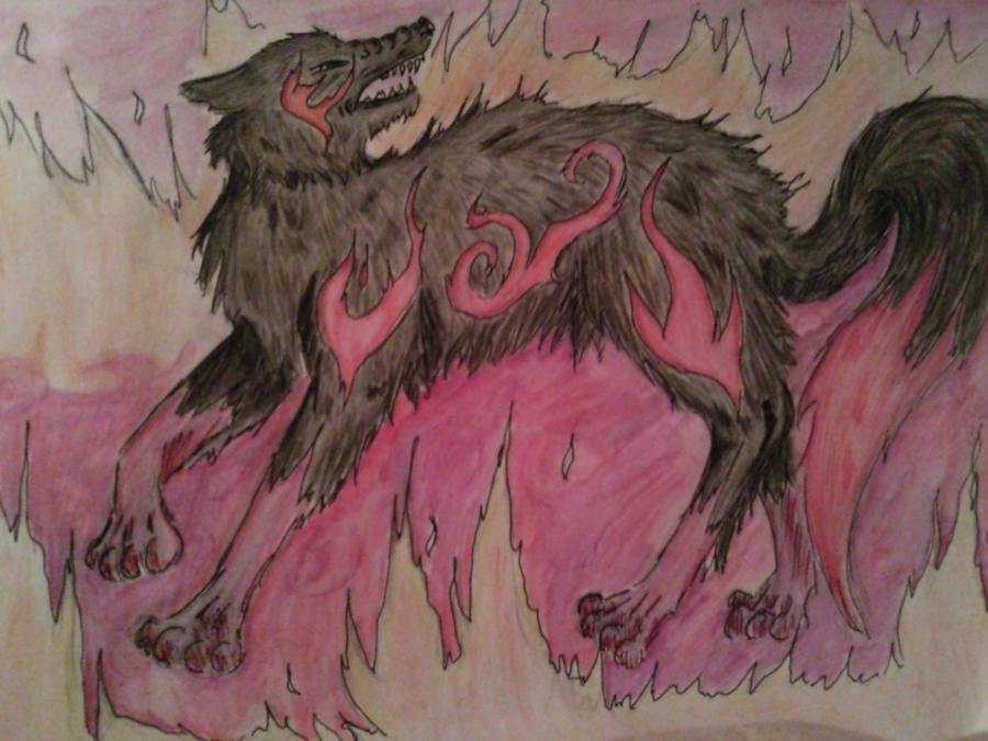 Elemental Fire Wolf
