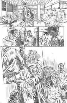 Near Death pencil page