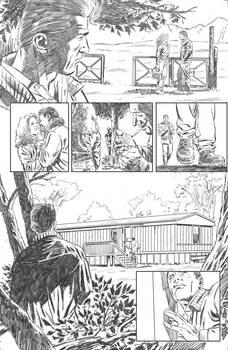 Near Death Pencil: shadowing the man