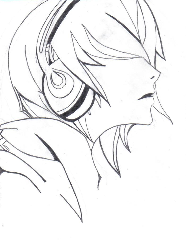 Line Art Headphones : Headphones by captainawesome on deviantart