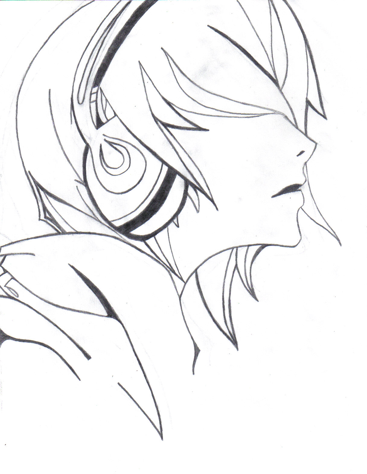 Headphones by captainawesome94 on deviantart for Cool easy anime drawings