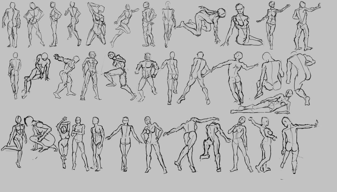 Figure Drawing Practice by Moonasha on DeviantArt