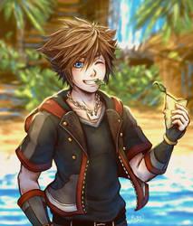 Sora    Kingdom Hearts by Michelle-Kristolia