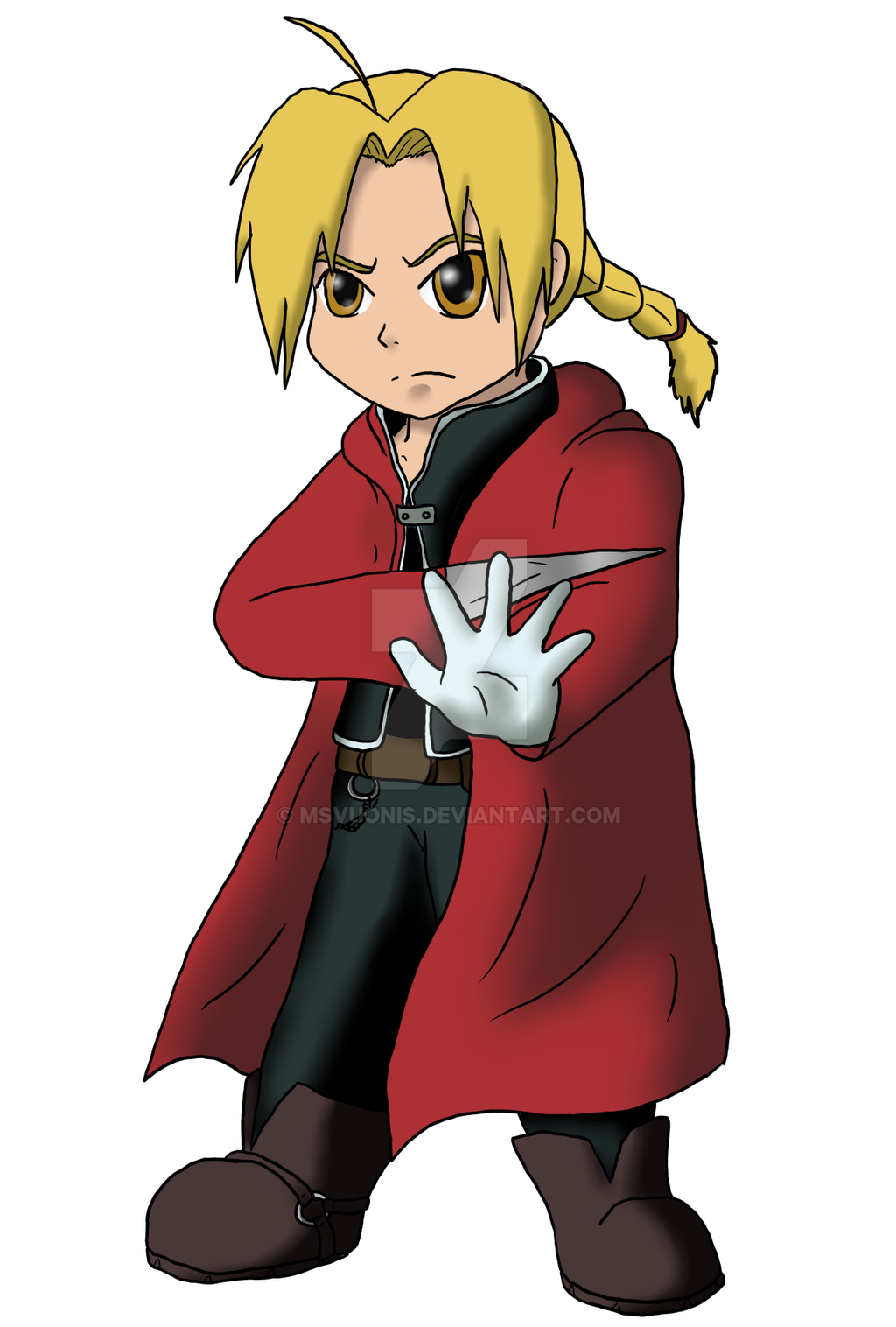 how to draw edward elric easy