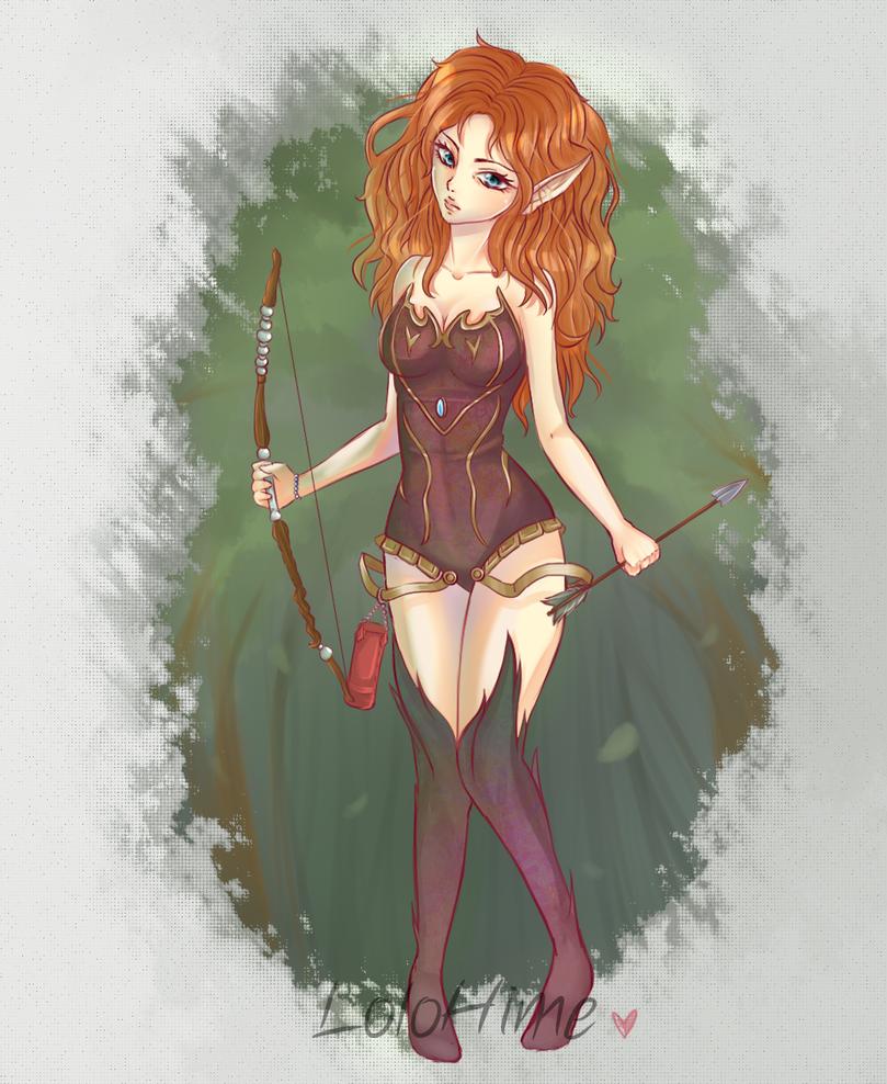 Commission: Elfa by InfinityAngel92