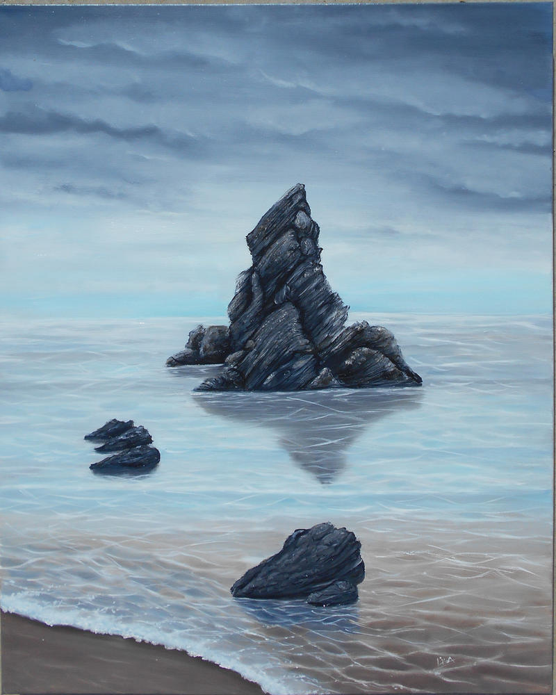 Tide Out  From a photo by Brian Kerr by tiletable