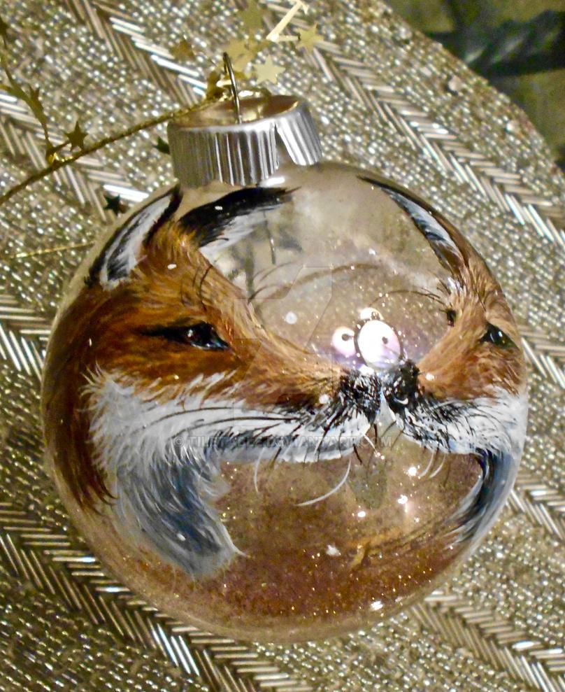 Fox Kiss Christmas ornament by tiletable on DeviantArt