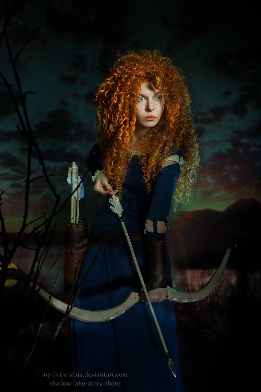 Merida at sunset by shua-cosplay
