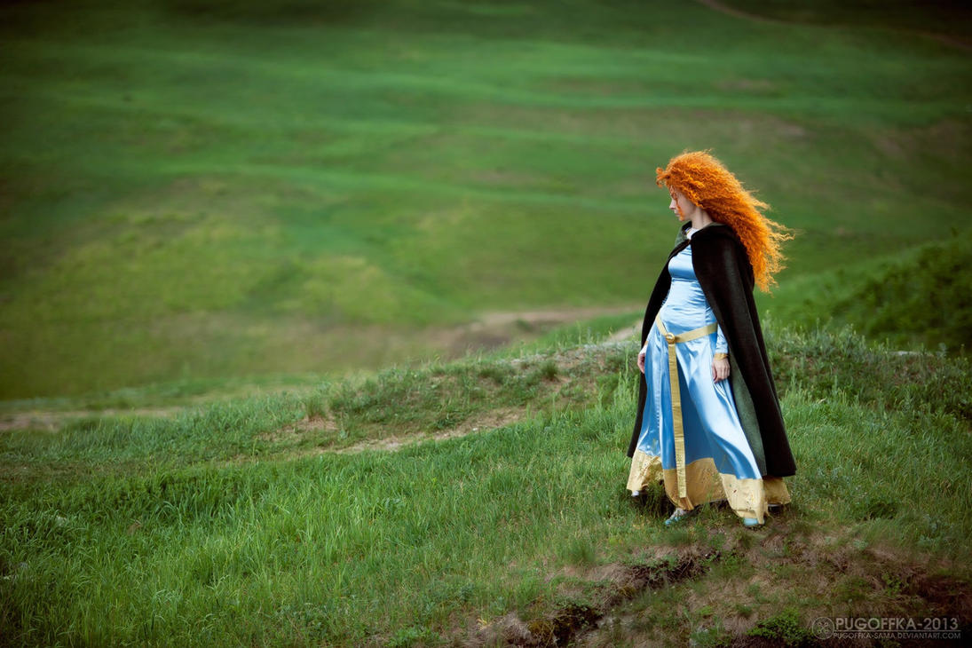 Merida, in the meadows by shua-cosplay
