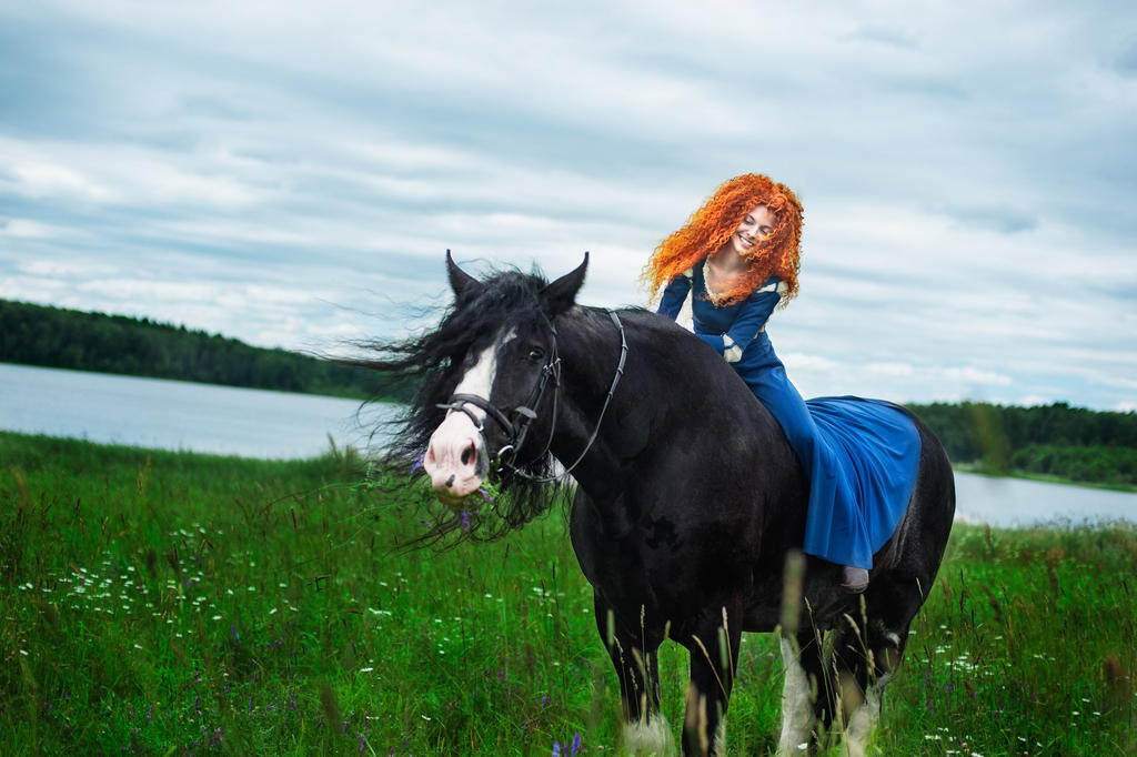 Angus and Merida by shua-cosplay