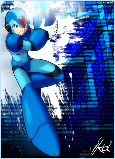Mega Man Graphic by LionheartKD