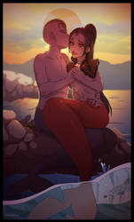 Mermaid Katy and Delphin ~ Honeymoon by Himmely