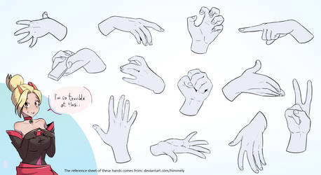 Hands study - reference sheet by Himmely