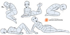 Poses Study 2 - reference sheet
