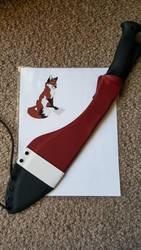Fox Blade and Sheath by WanderingGoose