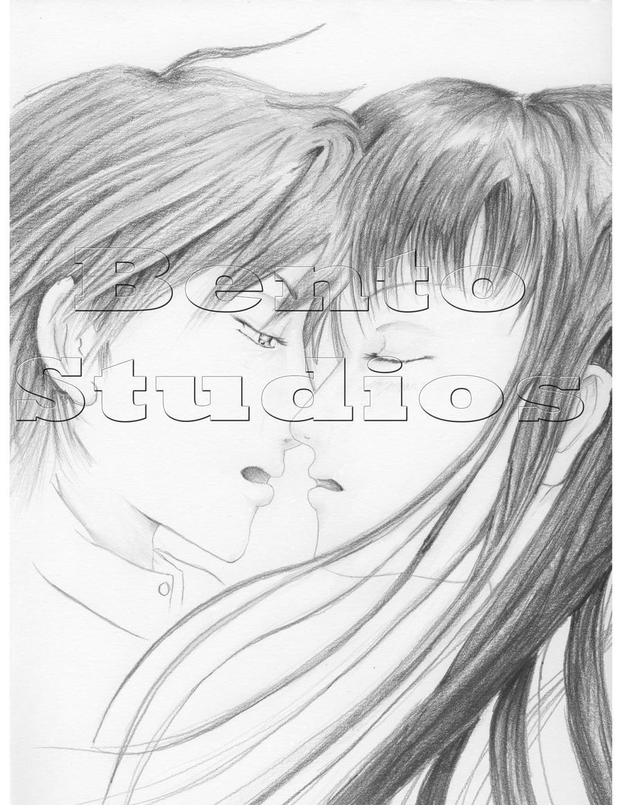 sawako and kazehaya kiss by bentostudios on deviantart