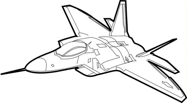 f 22 raptor coloring pages - photo #16