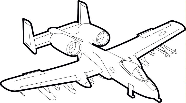 A 10 Thunderbolt Drawing A-10 Warthog by...