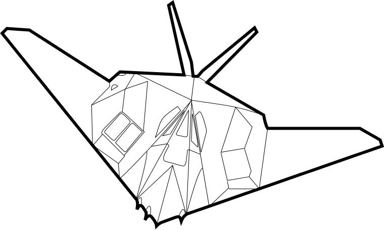 F-117 Nighthawk by F 117 Stealth Fighter Drawing