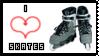 Love Skates Stamp by Chrno-chan