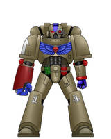 DW Brazen Knights Tactical Marine by Singemeister