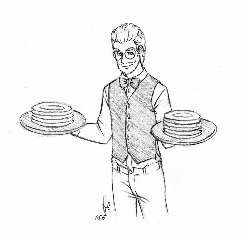 Rhett as a waiter (GMM #773) by StellaPollet