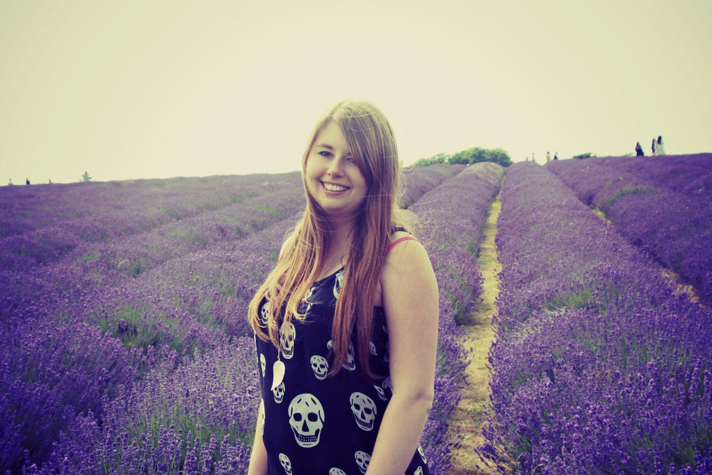 Self Portraiture - Lavender fields I by Lamb--Ox