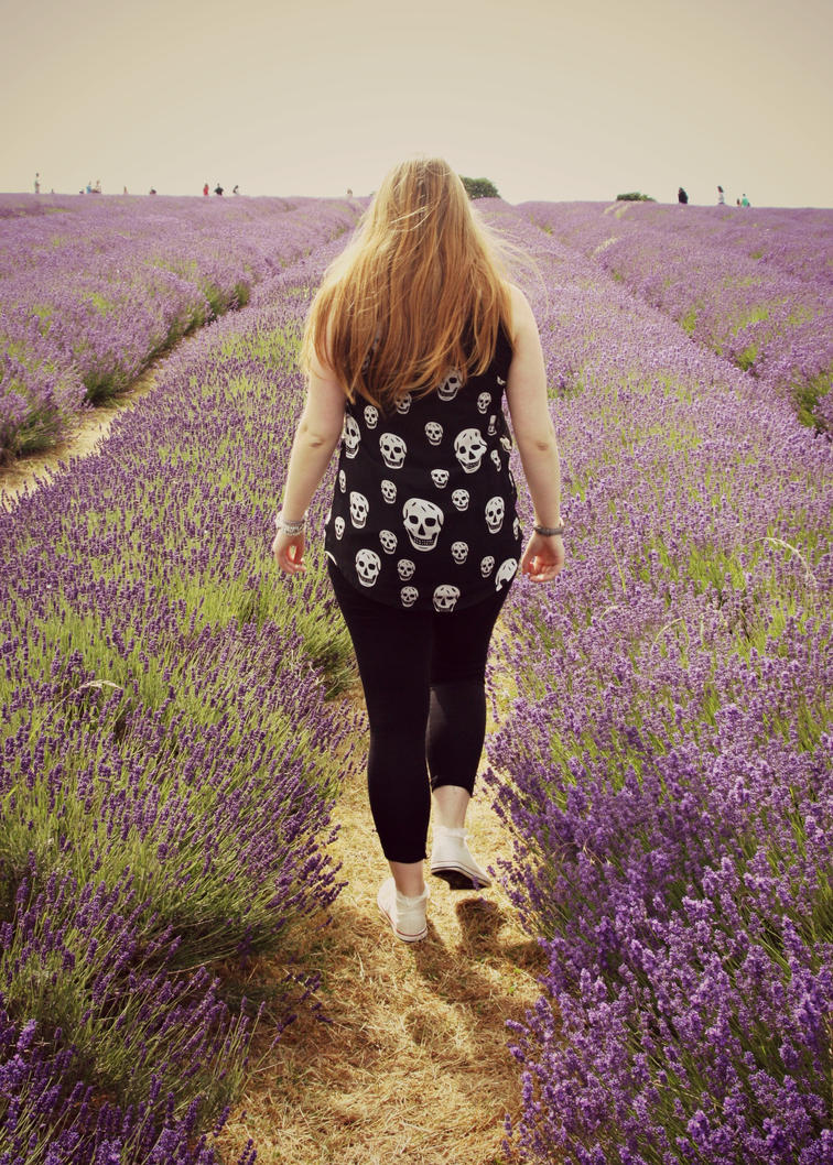 Self Portraiture - Lavender fields II by Lamb--Ox