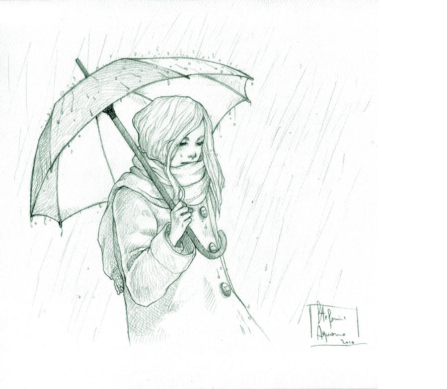 Rainy day pencil by darkredrose