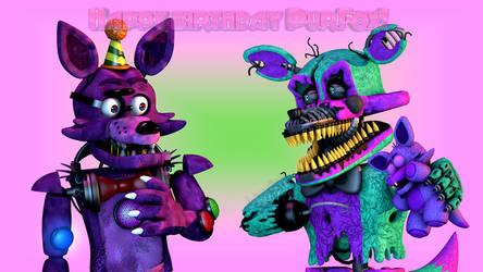 Happy birthday PurFox! by Aqualish007