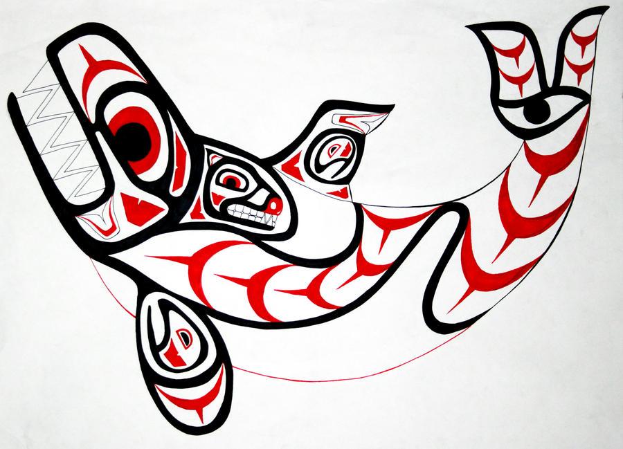 Haida Art Whale Haida Orca by AironShiroi on DeviantArt