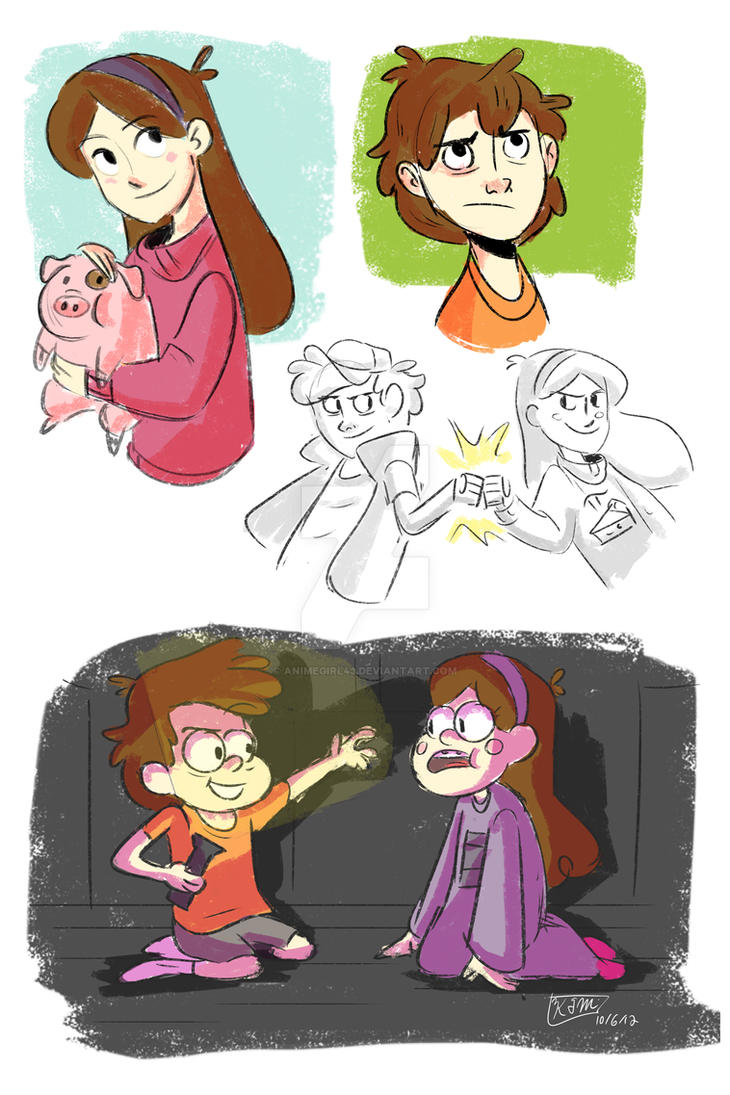 Gravity Falls Sketches by animegirl43