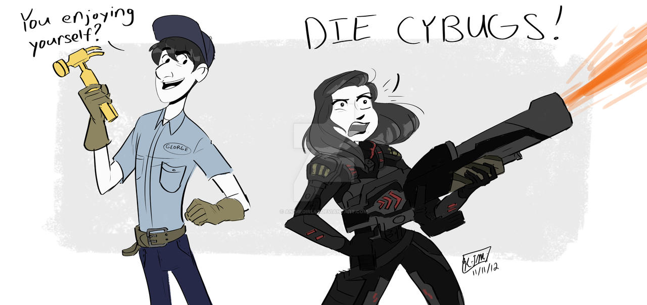 DIE CYBUGS!!!!! by animegirl43