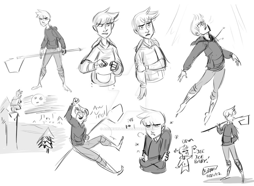 Jack Frost Sketches by animegirl43