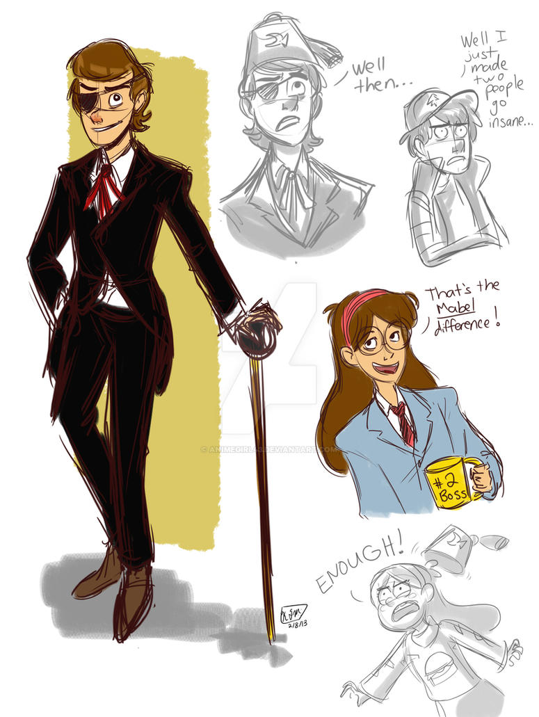 Boss Mabel Sketches by animegirl43