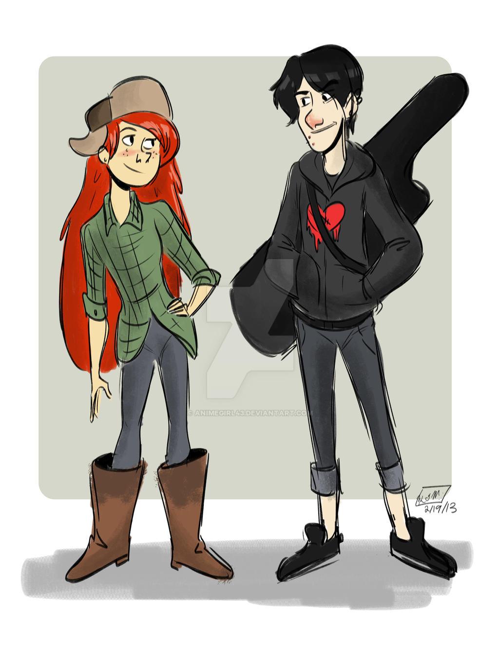 Wendy and Robbie by animegirl43