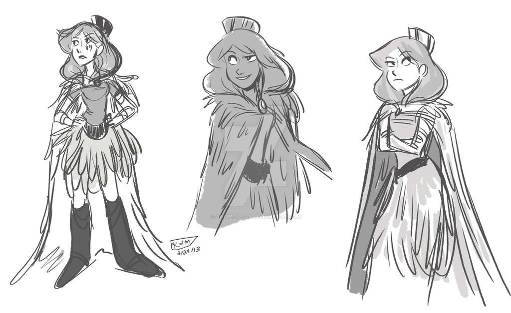 Earth Princess Sketches
