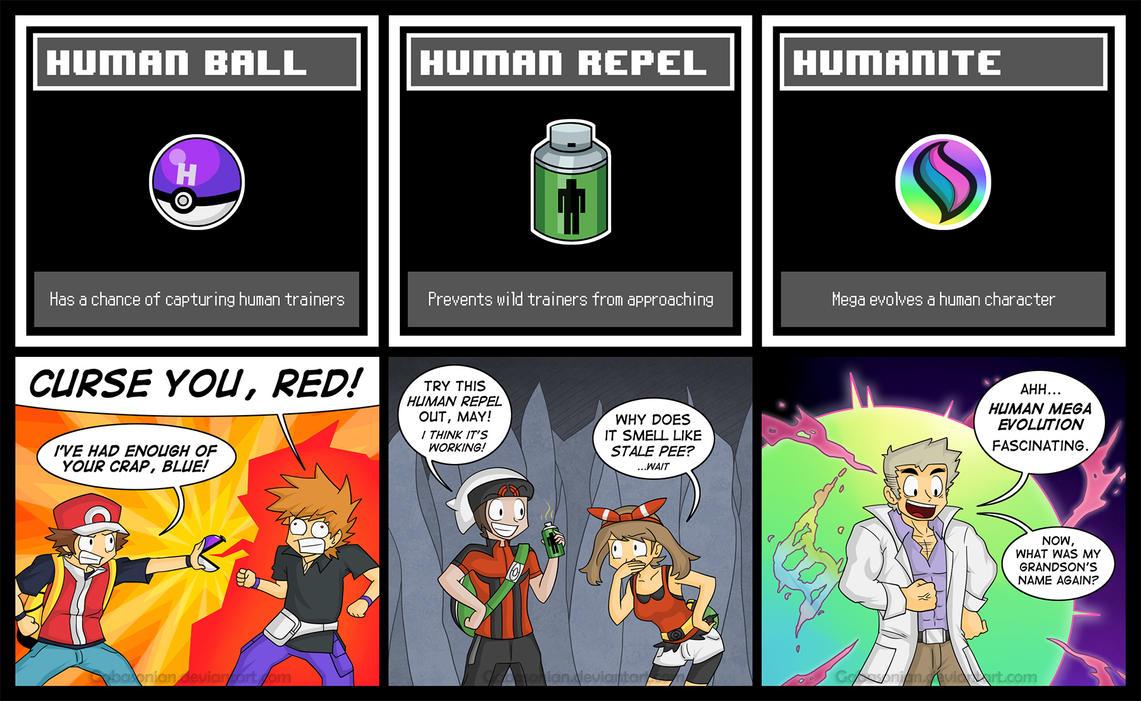 Human Pokemon Items by Gabasonian