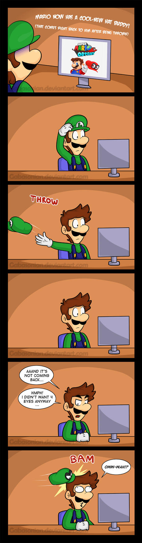 Luigi Wants Some Mario Odyssey Too [Comic + Dub] by Gabasonian