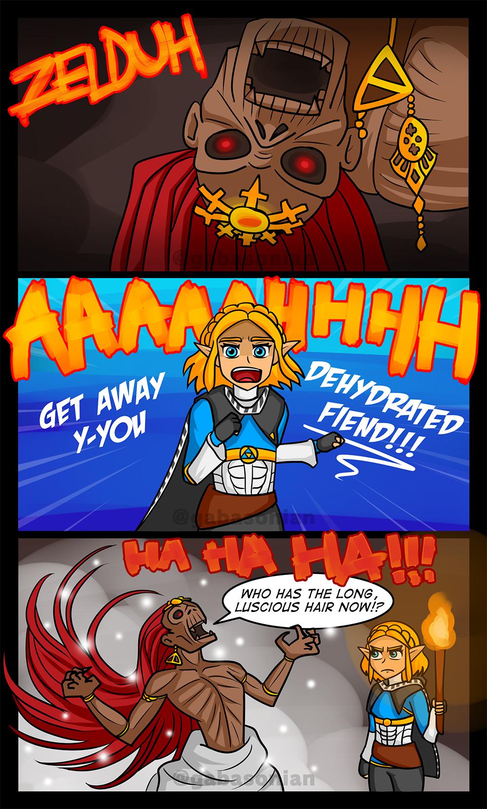 Zelda Meets Ganondorf Breath Of The Wild 2 By Gabasonian
