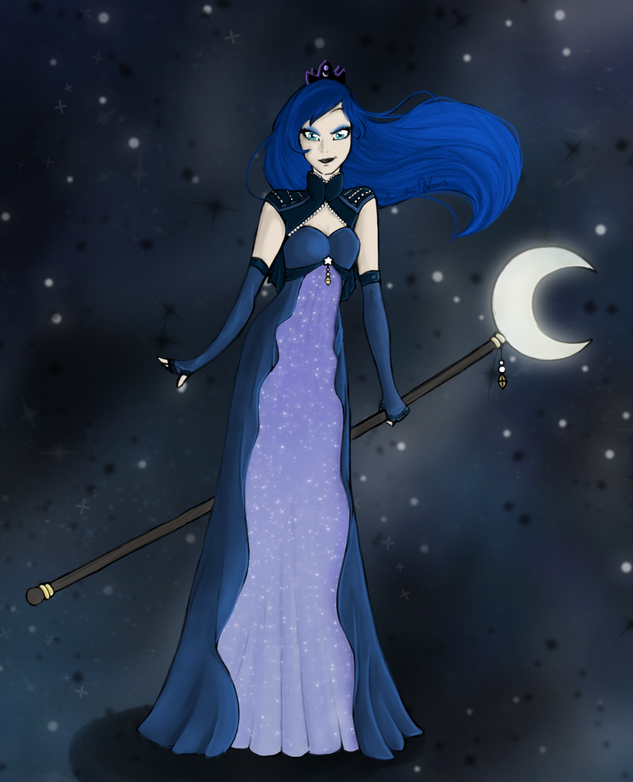 Princess Luna (Human) By RoseyTail On DeviantArt